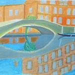 Spiegelung Brücke Venedig
