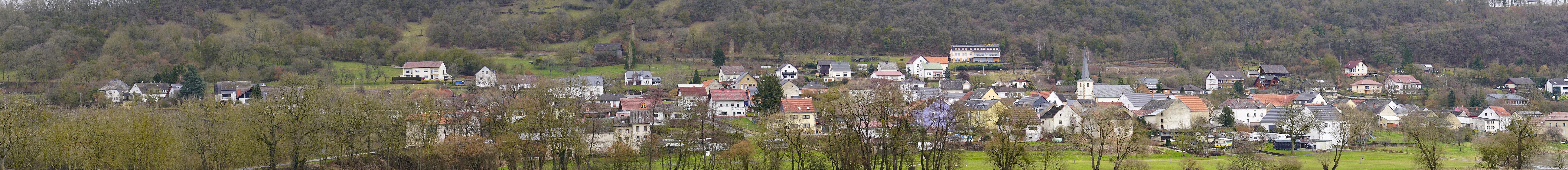 Panoramabild von der Luxemburger Seite Richtung Reisdorf. Foto W.Valentin ( März 2018 )