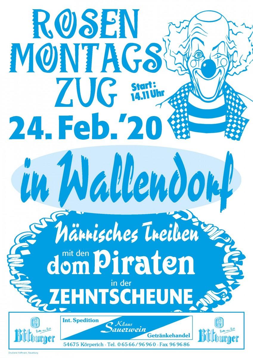 Plakat Rosenmontagszug2020